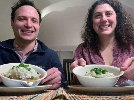 "Zachary Mirowitz and Gabriela Szteinberg enjoyed ""Cathy's radiant energy"" during Monday's event. (Photo courtesy of Zachary Mirowitz)"