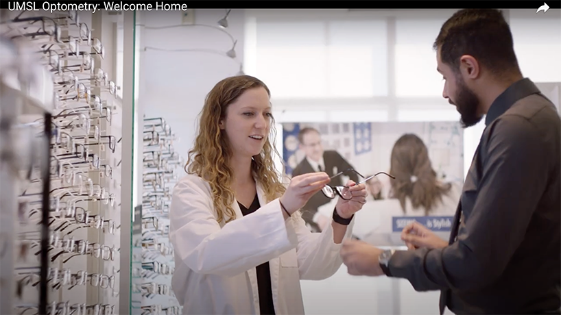 The Educational Advertising Awards selected the College of Optometry's recruitment video, Welcome Home, as the recipient of a gold award.