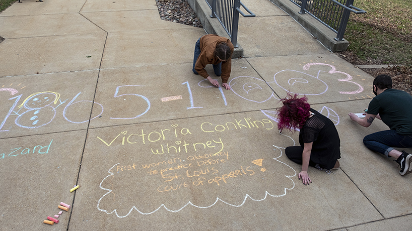 'Chalk With Us' strives to bring awareness of prominent women in history to St. Louis