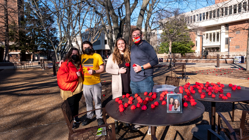 Quad becomes site of memorial honoring victims of COVID-19