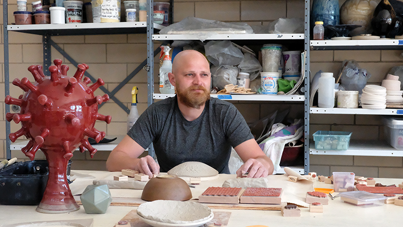 Biochemistry and biotechnology student Thomas Perrot finds an unlikely mesh with ceramics