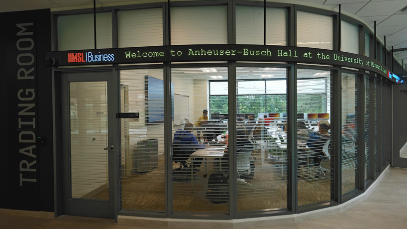 Anheuser-Busch Hall trading room