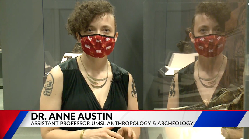 Fox 2 spotlights UMSL archaeology professor's visit to ancient Egyptian mummy exhibit at Saint Louis Science Center
