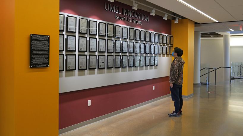 UMSL Innovation wall