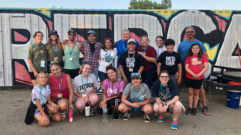 UMSL faculty and staff bring volunteers to the Cheyenne River Youth Project's RedCan Graffiti Jam