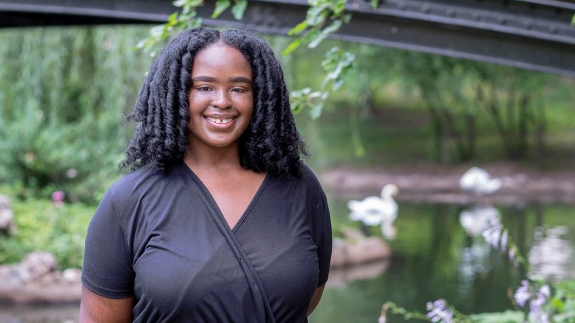 Biochemistry and biotechnology student Keona Hughes