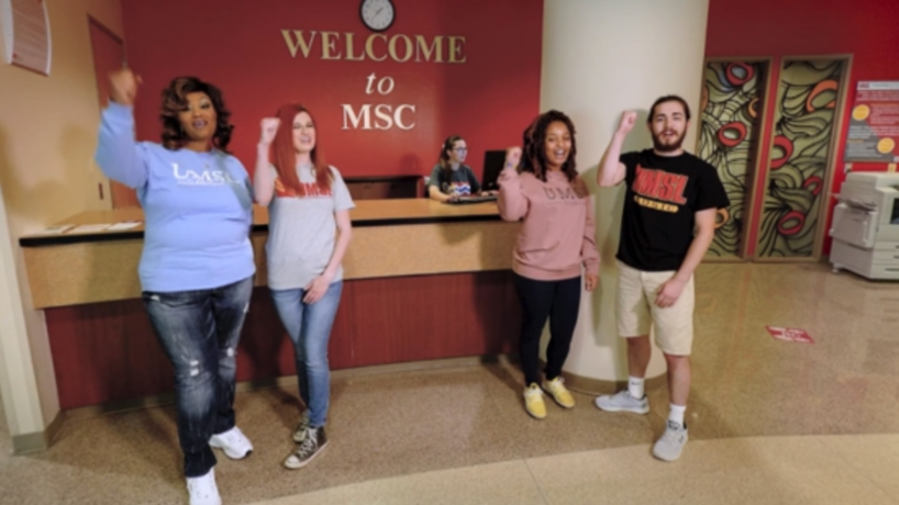 UMSL has a new virtual reality tour of the campus (screenshot)