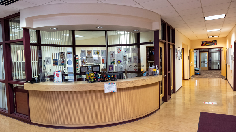 Front desk of the children's advocacy services of greater St. Louis
