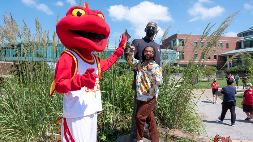 Eye on UMSL: Louie and a little luck