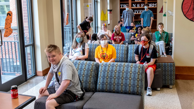 UMSL Succeed students sitting in Oak Hall