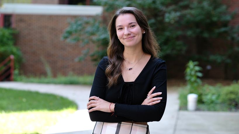 Emily Kersten on UMSL Campus