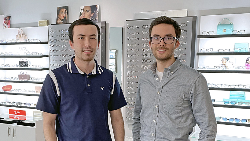 Optometry becoming a family tradition for brothers Alexander and Jon Kane