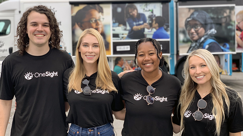 College of Optometry students help treat 103 patients at OneSight Kansas City clinic