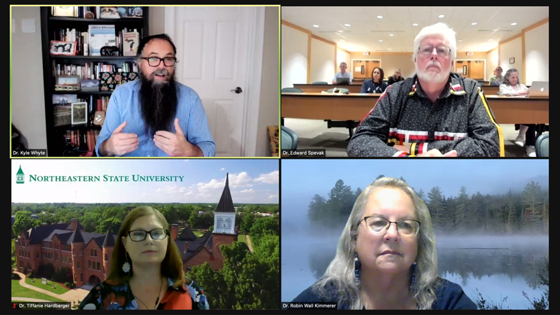 The presenters in the virtual Whitney and Anna Harris Conservation Forum