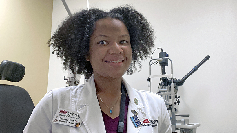 Not-so-traditional path gives optometry student Jasmine Welch unique lens for outreach efforts