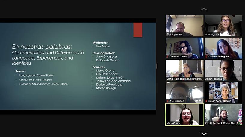 'En Nuestras Palabras' panel investigates varied experiences of multilingual speakers in US